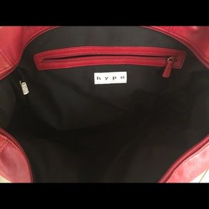 Hype red leather city satchel